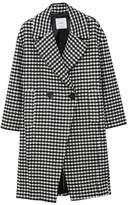 MANGO Checkered wool-blend coat
