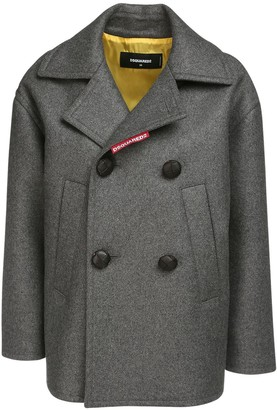 DSQUARED2 Wool Blend Double Breast Short Coat