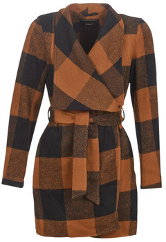 Only ONLFREYA women's Coat in Brown