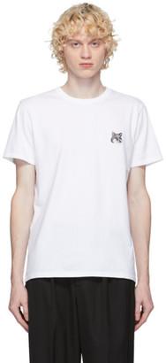 MAISON KITSUNÉ SSENSE Exclusive White and Grey Fox Head Patch T-Shirt