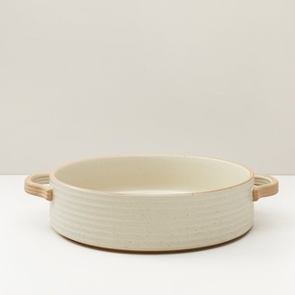 Oui Ridged Ceramic Serving Bowl Ivory