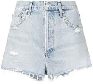 Citizens of Humanity blue denim shorts