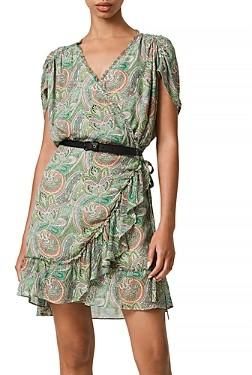 AllSaints Zini Shahmina Wrap Dress