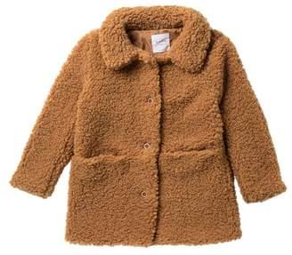 Elodie K Faux Shearling Teddy Coat (Big Girls)