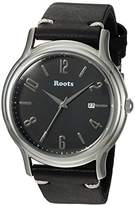 Roots 'Core' Quartz Stainless Steel and Leather Casual Watch, Color:Black (Model: 1R-PR201BA5B)