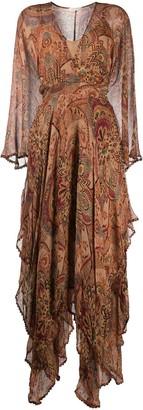 Mes Demoiselles Paisley Shift Midi Dress