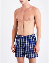 Derek Rose Checked Classic-fit Cotton-woven Boxers