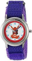 Disney Girl's 'Moana' Quartz Stainless Steel and Nylon Casual Watch, Color:Purple (Model: WDS000034)