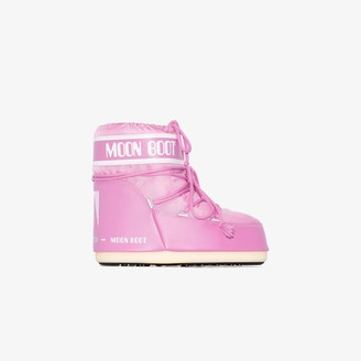 Moon Boot Pink classic low snow boots