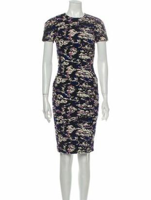Victoria Beckham Floral Print Knee-Length Dress