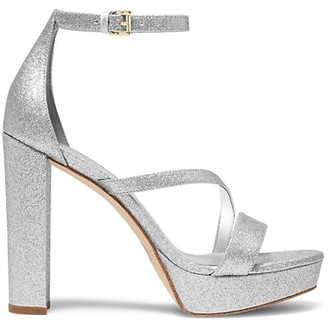 MICHAEL Michael Kors Tanner Glitter Platform Sandals