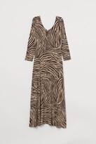 H&M Ballerina-neckline Dress - Beige