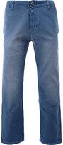 Gucci cropped denim trousers