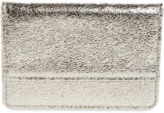 Nordstrom Crackle Metallic Leather Card Holder