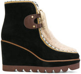 See by Chloe platform boots with shearling