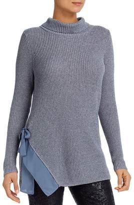 Nic+Zoe Side-Tie Turtleneck Tunic Sweater