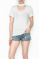 Everly Choker Short Sleeved Top