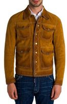 DSQUARED2 Textured Suede Leather Jacket