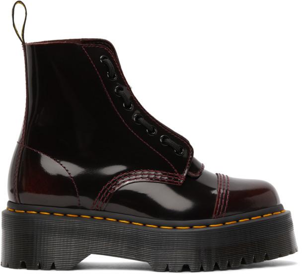Dr. Martens Red Sinclair Quad Retro Boots