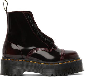 Dr. Martens Red Sinclair Quad Retro Boots