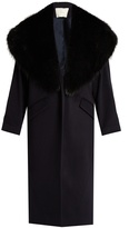 ADAM by Adam Lippes Fur-lapel wool and cashmere-blend coat