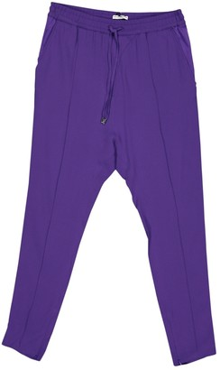 CNC Costume National Purple Synthetic Trousers
