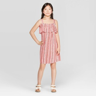 Girls' Off the Shoulder Button-Front Dress - art classTM Light