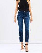 Dorothy Perkins Pearl Embellished Corey Jeans