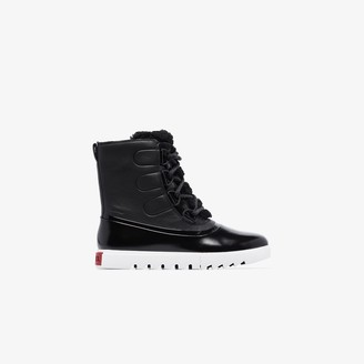 Sorel black Joan of Arctic Next Lite leather boots