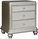 Signature Design by Ashley Silver Coralayne Three-Drawer Night Stand