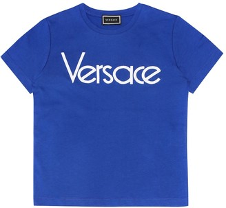 Versace Kids Logo cotton T-shirt