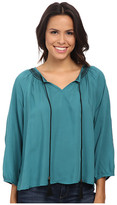 Rock and Roll Cowgirl 3/4 Sleeve Top B4-4815