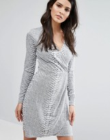 French Connection Snake Jaquard Dress