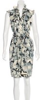 Magaschoni Silk Floral Dress
