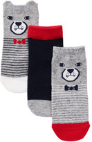 Joe Fresh Character Socks with 3D Ears - Pack of 3 (Baby Boys)