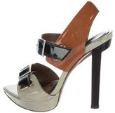 Marni Buckle-Accented Patent Leather Sandals