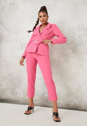 Missguided Petite Hot Pink Co Ord Bum Bag Belted Blazer