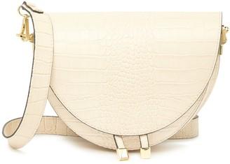 Persaman New York Aleah Croc Embossed Leather Crossbody Bag