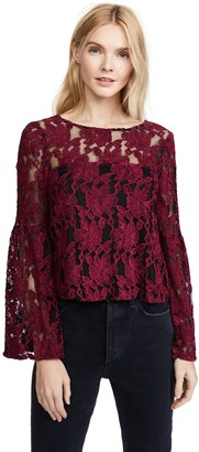 Cupcakes And Cashmere Women's Florent Lace Bell Sleeve Top