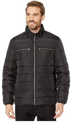 Cole Haan Packable Down Jacket (Grey) Men's Coat