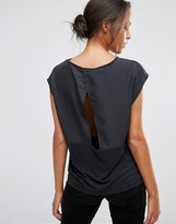 Selected Irina Short Sleeve Top with Wrap Back Opening