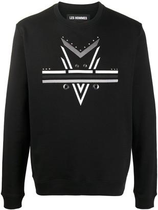 Les Hommes Abstract-Print Sweatshirt