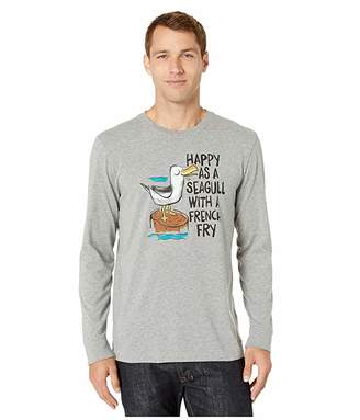 Life is Good Happy As a Seagull Long Sleeve Crushertm Tee