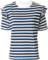MAISON KITSUNÉ striped T-shirt