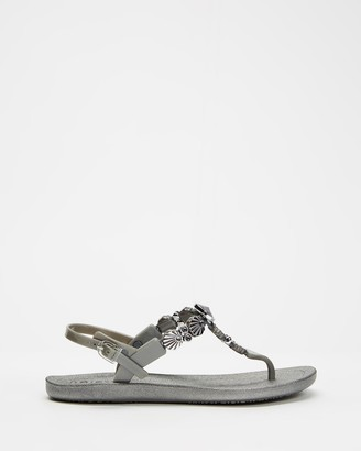Holster Women's Silver Flat Sandals - Malibu - Size One Size, 11 at The Iconic