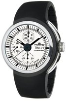 Fortis Men's 661.20.32 K Space Leader Stainless Steel Chronograph Black Silicone Watch