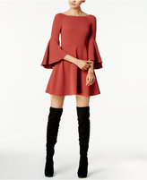 Bar III Bell-Sleeve Fit & Flare Dress, Created for Macy's