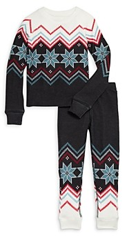 PJ Salvage Unisex Fair Isle Print Pajama Set - Little Kid, Big Kid
