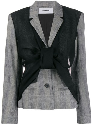Chalayan Asymmetric Blazer Vest Jacket