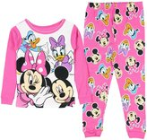 Disney Mickey Minnie Mouse Little Girls Toddler Pajama Set Donald Duck